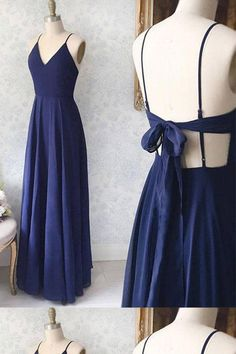 Simple blue v neck chiffon long prom dress, evening dress,Party Dresses,Evening Gowns, Shop plus-sized prom dresses for curvy figures and plus-size party dresses. Ball gowns for prom in plus sizes and short plus-sized prom dresses for Navy Blue Homecoming Dress, Simple Homecoming Dresses, Blue Homecoming Dresses, Simple Prom Dress, Simple Dresses, Elegant Dresses, Formal Dresses, Long Navy Blue Dress, Long Dresses