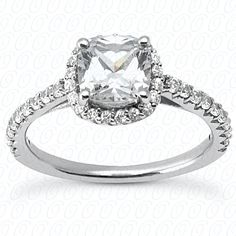 Diamond Halo Engagement ring available at Jenkins Jewelers  #engagement #ring #diamond