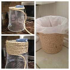 Two It Yourself: Dollar store trash can makeover