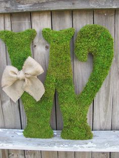 Large Moss Covered Letter W / Rustic Wedding Sign / Monogram / Any Letter / Home Decor Moss Covered Letters, Moss Letters, Barn Wedding Decorations, Rustic Wedding Signs, Spring Wedding, Our Wedding, Dream Wedding, Letter Standee, Home Crafts