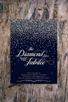 Starry night: holiday party invitation, save-the-date, or new year's party invitation Gala Invitation, Holiday Party Invitations, Invitation Design, Birthday Invitations, Wedding Invitations, Prom Invites, Night Wedding Photos, Starry Night Wedding, Debut Ideas