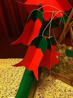 Fácil de hacer, y una idea de decoración para estas Fiestas Patrias International Craft, Cake Toppers, Origami, Projects To Try, Diy Crafts, Outdoor Decor, Holiday, Party, Chi Chi