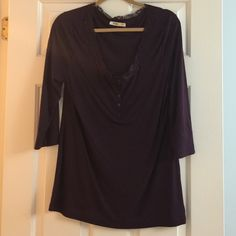 Old Navy top Dark purple color with lace detail. 3/4 sleeves Old Navy Tops Tees - Long Sleeve