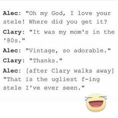 Alec and Clary | #TMI #shadowhunters | Mean Girls