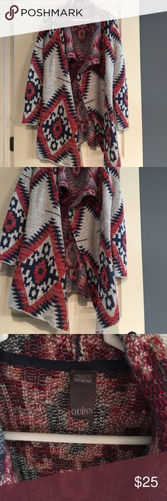 Francesca's Collection M Aztec Sweater Francesca's Collection M Aztec Sweater. Originally paid $85 this Sweater will keep you warm during the fall and winter months. Super cozy and warm Francesca's Collections Sweaters
