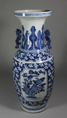 Kangxi Blue & White Vase With Ears