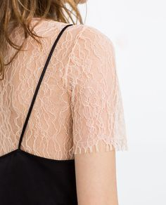 Image 6 of LAYERED LACE AND CAMISOLE TOP from Zara