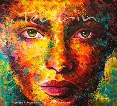BADASS PRINCESS Acrylic on Canvas 205cm x 185cm