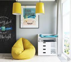Jurnal de design interior: Galben și turcoaz într-un apartament de 70 m² din…