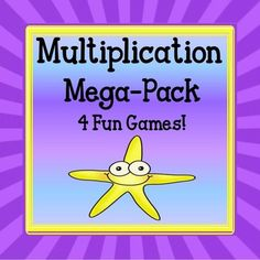 Multiplication Bundle!Same 50% by buying the Multiplication Bundle!Includes 4 fun, fast-paced educational games:*Multiplication War- A fun game for learning multiplication facts!In this game there are a total of 100 cards plus a multiplication chart for students to check their answers. *Roll Six Multiplication- Roll Six Multiplication  is a fun way to learn multiplication facts.