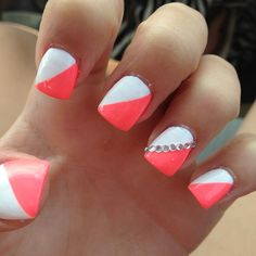 #Beauty #Beautiful #Nails #Painted #Manicure #Perfect #White #Peach #Pink #Bright #Light #Bling #Jewels #Cute #Best #Acrylic #Want #Acrylics #Perfection #Gorgeous #Summer #Season #Colors #Blend #Amazing