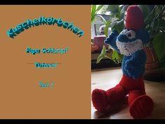 Papa Schlumpf  Teil1 wmv Videos, Creative, Dinosaur Stuffed Animal, Baby, Toys, Youtube, Animals, Tutorials, Animales