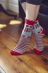 Knit Now Issue 41 Christmas Socks pattern by Mone Dräger