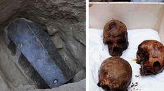 Вскрыт чёрный гроб, найденный в Египте.