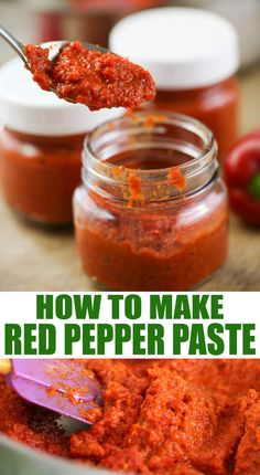 A step by step tutorial on how to make red pepper paste. I use bell peppers but you can make this pepper paste with any kind of pepper. It freezes great and is a great way to preserve peppers. Jelly Recipes, Jam Recipes, Canning Recipes, Pepper Recipes, Red Pepper Paste, How To Make Red, Paste Recipe, Healty Dinner, How To Make Sandwich
