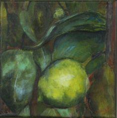 Lemon tree I , canvas 10x10 inch   /25x25 cm/, acrylic, Antal Fülöp