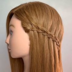 alex_haircraft ▶️ Here is a four strand single direction version of the super trendy scissor waterfall braid. It's really a nice alternative to the standard waterfall braid and it's very simple to do 💋 Hope you enjoy! Cool Braid Hairstyles, Girl Hairstyles, Waterfall Braid Tutorial, Bob Cut Wigs, Ombré Hair, Cool Braids, Stylish Hair, Hair Videos, Hair Lengths