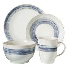 Threshold™ 16 Piece Preston Denim Dinnerware Set - Blue/White