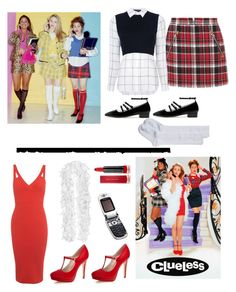 """""""Cher from Clueless"""" by im-karla-with-a-k ❤ liked on Polyvore featuring Nordstrom, rag & bone, Alice + Olivia, AlexaChung, Miss Selfridge, Tim Holtz, Motorola and Max Factor"""