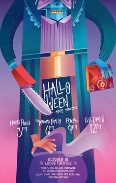 Lucas Theatre Halloween Poster by Sean Loose