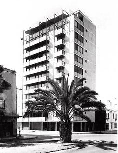 Condominio Ensenada, Ensenada Calle 37, Condesa, México DF 1957    Arq. Abraham Zabludovsky -    The Ensenada Condominium, Condesa, Mexico City 1957