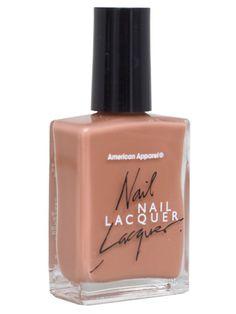 american apparel nail polish- beige