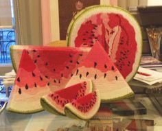 Eeyore's eye — needlepoint-inc:   Needlepoint Watermelons, not...