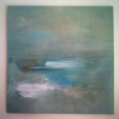 'misty pale azura sea'  painting by Heather Ross 2012