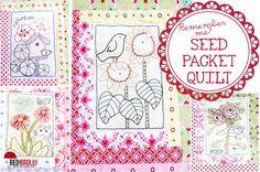 Remember me? The Seed Packet quilt redone