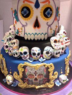 Cake Designer: Torta Teschi di zucchero messicani/