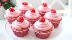 Recipe with video instructions: These cupcakes are naturally flavoured with fresh raspberries and are a raspberry cake filled with homemade…