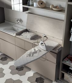 Ideas Bath Room Closet Laundry Ironing Boards For 2019 Small Laundry Rooms, Laundry Closet, Laundry In Bathroom, Master Bathroom, Laundry Room Cabinets, Laundry Room Organization, Pull Out Ironing Board, Ironing Boards, Ironing Board Covers