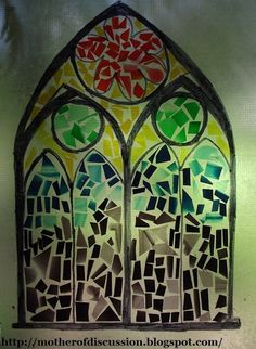 "use gelatin ""plastic"" to design stained glass art"