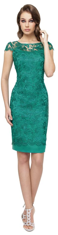 Very nice green lace dress Jw Mode, Dress Skirt, Lace Dress, Short Dresses, Formal Dresses, Groom Dress, Mode Style, Dress Patterns, Pretty Dresses
