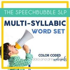 Multisyllabic Drill and Data Set #printable #language #data #materials #SLP #therapy #speech #SPED #classroom #lesson #plans #assessment