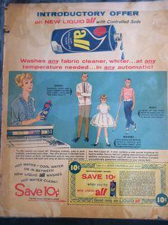 ALL detergent 1950's advertiement on Etsy, $5.00