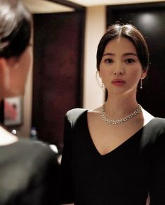 Actress Song Hye-kyo radiated elegance in our Joséphine Aigrette Impériale necklace and earrings at this year's Hong Kong Film Awards. Female Actresses, Korean Actresses, Korean Beauty, Asian Beauty, Korean Celebrities, Celebs, Asian Girl, Korean Girl, Songsong Couple