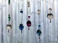 Suncatchers! (Beads on fishing line with crimps to secure)