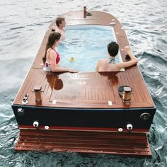 Wooden hot tub boat. Curated by: EcoCircuit Distributors| 1950 Bredin Rd. Kelowna, BC V1Y 4R3  | 250-979-2008