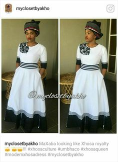 MyclosetbyYakho. Umbhaco Traditional Dresses Designs, African Traditional Wedding Dress, African Fashion Traditional, South African Fashion, African Print Fashion, Africa Fashion, Traditional Outfits, African Print Dress Designs, African Print Skirt