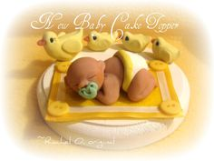 New Baby Duckie Cake Topper. $38.00, via Etsy.