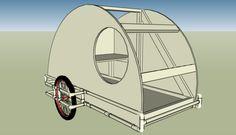 PVC Teardrop Bike Trailer | Tiny House Design