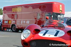 Le stand #Ferrari au Mans Classic 2014 http://behindluxury.com/le-mans-classic-24h-vintage/ @lemansclassic #auto #voiture