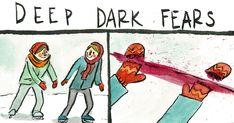 Este ilustrador convierte en cómics los miedos más profundos e irracionales de la gente   Bored Panda