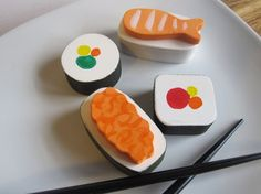 Sushi wooden playfood toy waldorf natural by Imaginationkids, $20.00