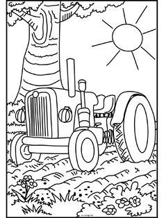 Kleurplaten Tractor Met Kar.45 Beste Afbeeldingen Van Kleurplaten Tractor Tractor Coloring
