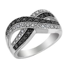 Love the mix of black and white diamonds.