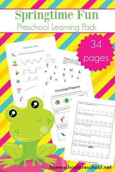 Spring has sprung, and I have some new spring printables for your preschoolers! This spring learning pack is the perfect addition to your upcoming homeschool lessons. #homeschoolprek #homeschooling #preschool #preschoolathome #prek #prekathome #springprintables    https://homeschoolpreschool.net/free-spring-learning-pack-preschoolers/
