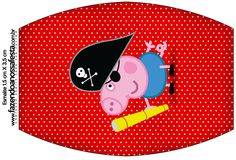 Rótulo Esmalte George Pig Pirata (Peppa Pig):