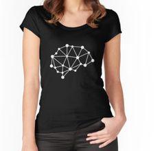 Transhuman geometric brain tshirt - Women's Fitted Scoop T-Shirt